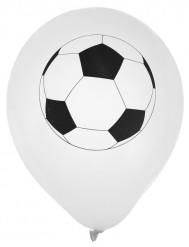 Fussball Luftballons Raumdekoration 8 Stück weiss-schwarz