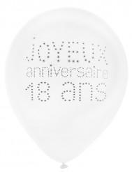 8 Alles Gute zum 18. Geburtstag Luftballons 25 cm