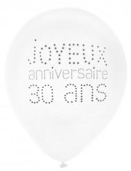 8 schicke Luftballone für den 30. Geburtstag