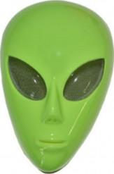 Grüne Alien-Maske für Erwachsene