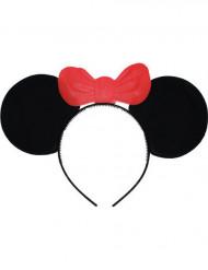 Mäuse Haarreif mit roter Schleife