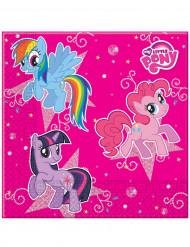 Set aus 20 Servietten mit My Little Pony-Motiv