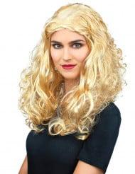 Lockige blonde Perücke für Frauen