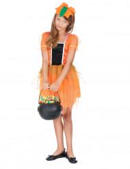 Kürbisfee-Kostüm für Mädchen