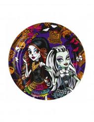 8 kleine Teller mit Monster High-Figuren