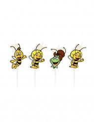4 kleine Kerzen Biene Maja