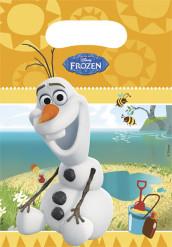 Frozen™-Partytaschen Olaf 6 Stück bunt 17x23cm