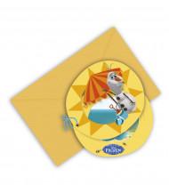 6 Einladungskarten mit Umschlag Olaf™