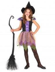 Buntes Hexe-Kostüm für Mädchen