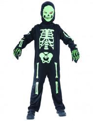Grünes Skelettkostüm für Kinder