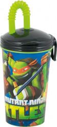 Becher mit Strohhalm - Ninja Turtles™