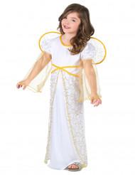 Kleiner Engel Mädchenkostüm weiss-gold