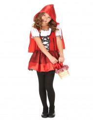 Rotkäppchen-Mädchenkostüm für Fasching schwarz-weiss-rot