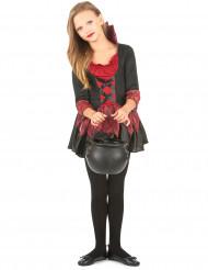 Kurzes Vampirkleid für Mädchen schwarz-rot