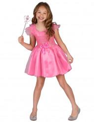 Pinkfarbenes Prinzessinnen-Kostüm für Mädchen