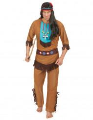 Indianerkrieger-Herrenkostüm bunt