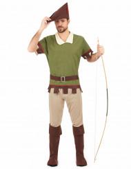 Robin Hood Kostüm für Herren grün-braun