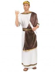 Römisches-Adelskostüm für Herren braun-weiss-goldfarben