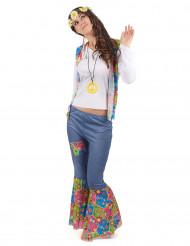Hippiekostüm für Frauen bunt