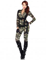 Tarnanzug Militärkostüm für Damen bunt