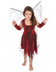 Böse Fee Kostüm für Mädchen in rot-schwarz