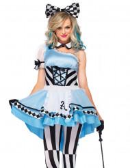 Wunderland Prinzessin Kostüm für Damen hellblau 3-teilig