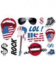 13 Sticker für die Wand USA