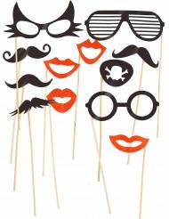 Photobooth Set zum Thema Schnurrbärte und Brillen