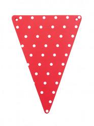 5 DIY Wimpel - rot mit Punkten