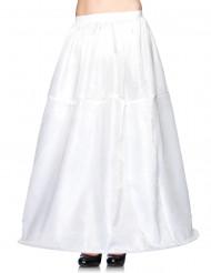 Langer, weißer Reifrock für Damen
