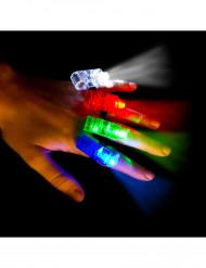 4 bunte LED Lampen für die Finger