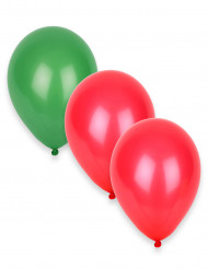 12 grün-rote Luftballons