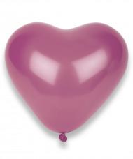 100 rosa Herz-Luftballons