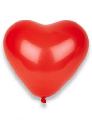 100 rote Herz-Luftballons