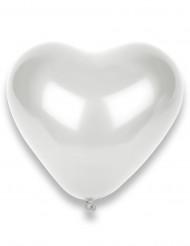 50 Luftballons - weiße Herzen