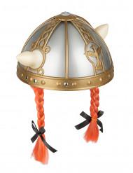 Gallier Helm mit roten Zöpfen für Kinder