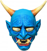 Maske blauer Oni Dämon - Hand bemalt