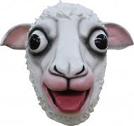 Weiße Schafsmaske