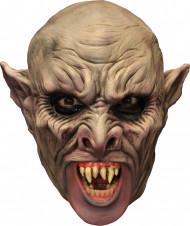 3/4 Maske Vampir mit Gebiß - Hand bemalt