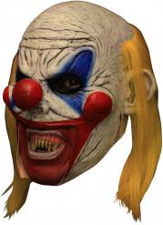 3/4 Deluxe Maske gruseliger Clown Hand bemalt