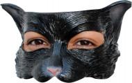 Schwarze Katzen Halbmaske