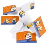 6 Minions™ Einladungskarten und Umschläge