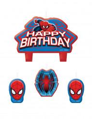 4 Spiderman™ Geburtstags-Kerzen