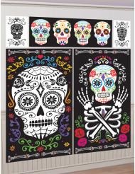 Fünf Wanddekorationen Dia de los Muertos