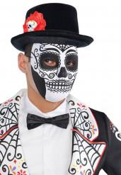 Die de los Muertos Maske Totenkopf schwarz-weiß