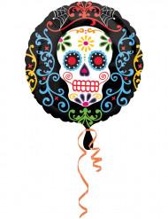 Alu-Luftballon Día de los muertos - Totenkopf
