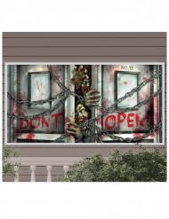 Zombie Banner aus Kunststoff
