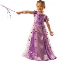 Rosafarbenes Kostüm einer verwunschenen Prinzessin für Mädchen