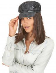 Pailletten-Mütze Disco für Erwachsene