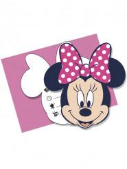 6 Einladungskarten mit Umschlag Minnie Mouse - Disney™
